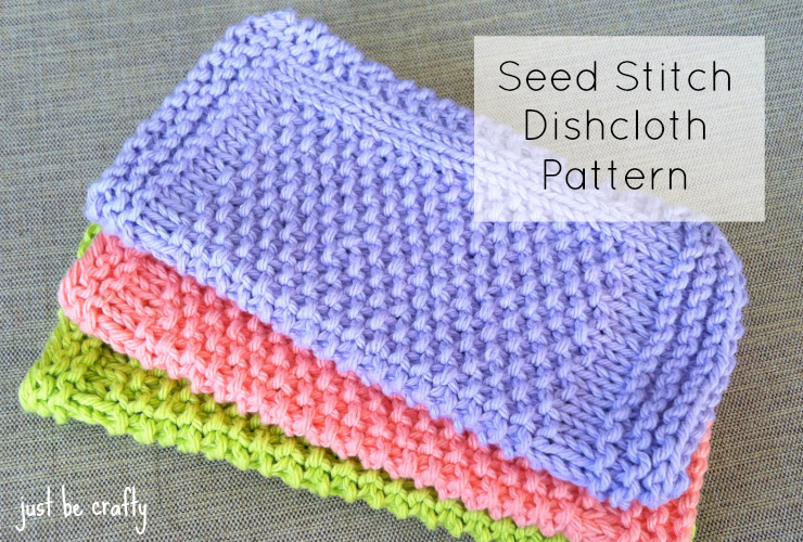 Seed Stitch Dishcloths