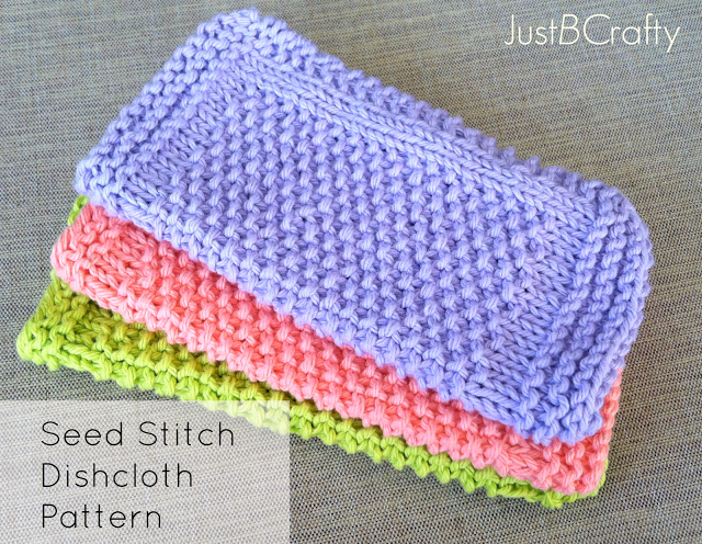 Seed Stitch Dishcloth Pattern Free Pattern By Just Be Crafty