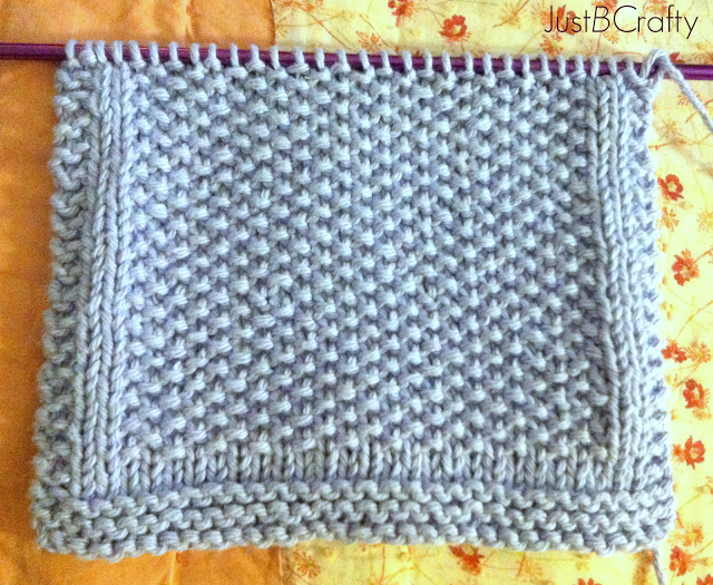 Seed Stitch Dishcloth Pattern