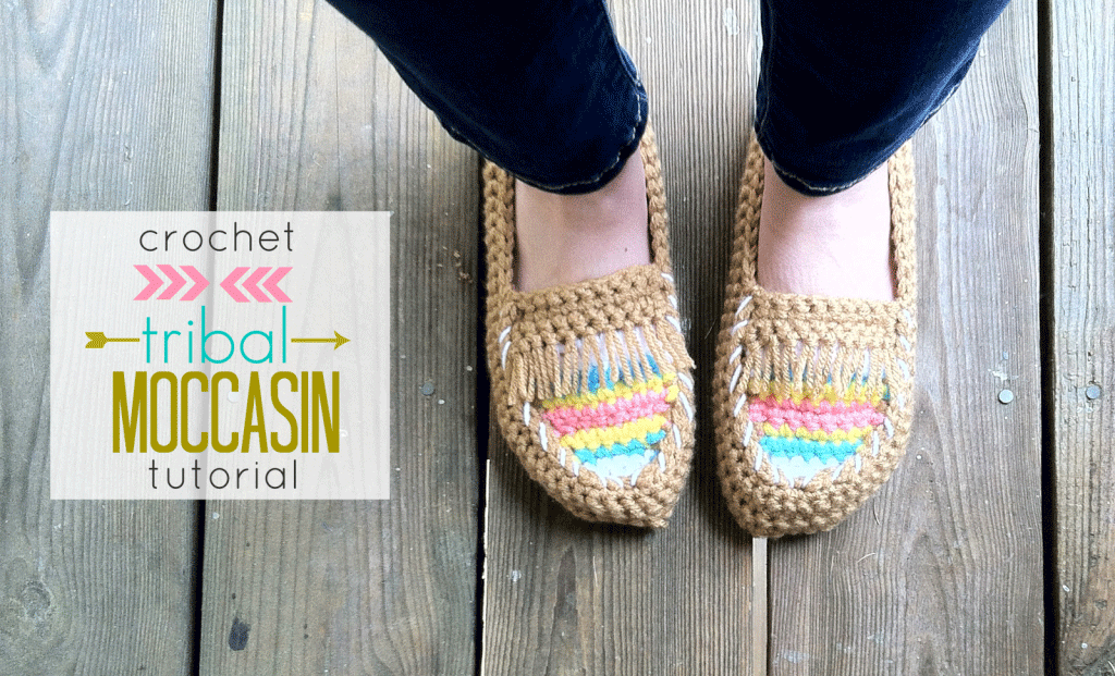 Crochet Tribal Moccasin Tutorial - Just Be Crafty