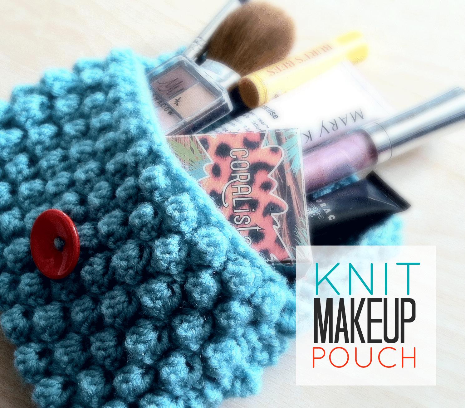 Knit Makeup Pouch