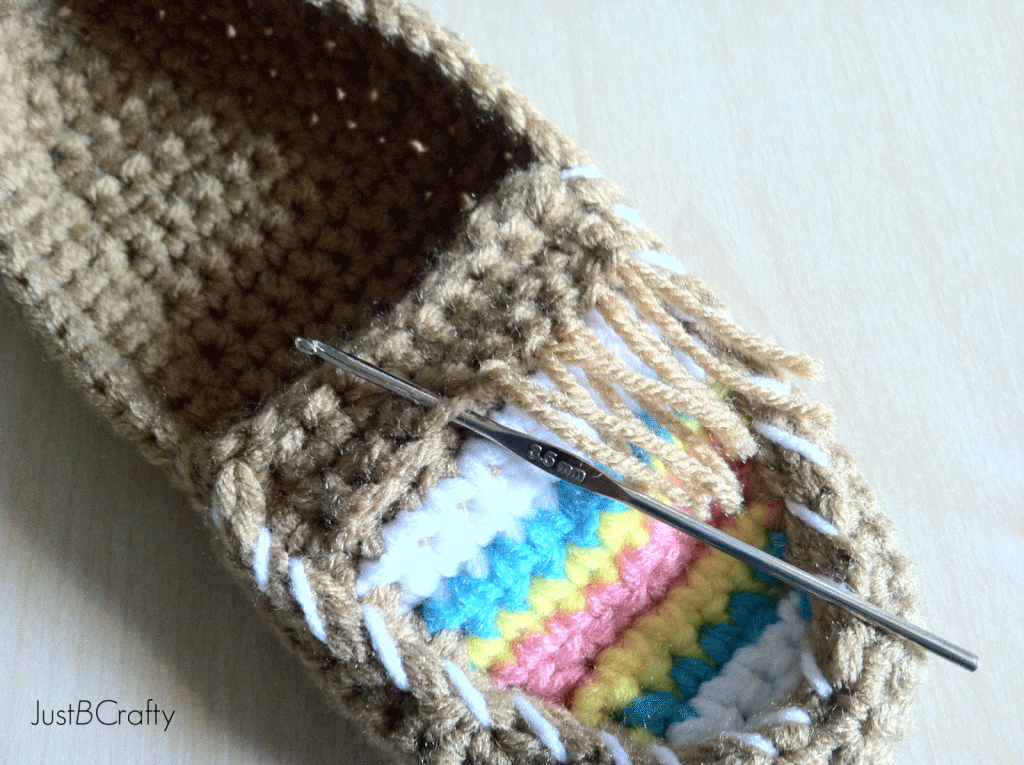 Crochet Tribal Moccasin Tutorial Just Be Crafty