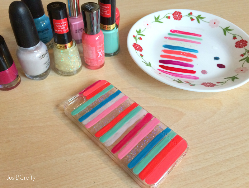 DIY Painted iPhone 5s Case - Just Be Crafty