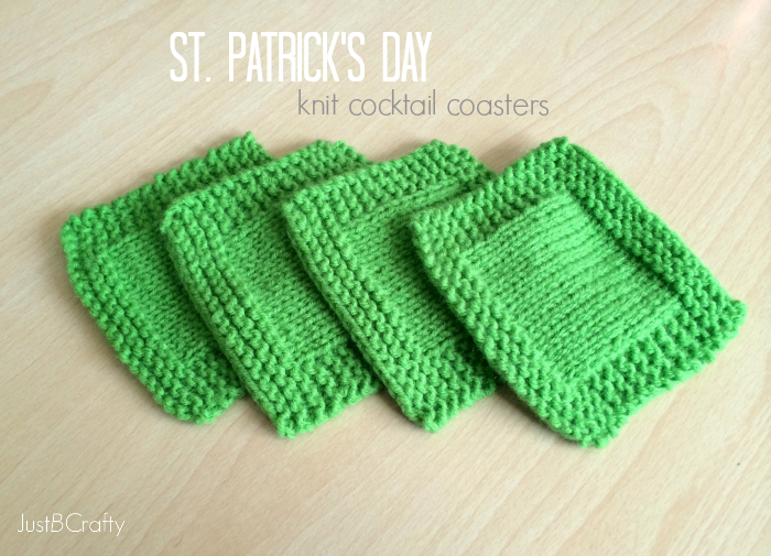 St. Patrick's Day Knit Cocktail Coasters
