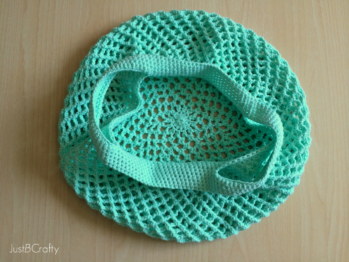 Free Crochet Patterns For Grocery Bags : Crochet Mesh Grocery Tote Pattern