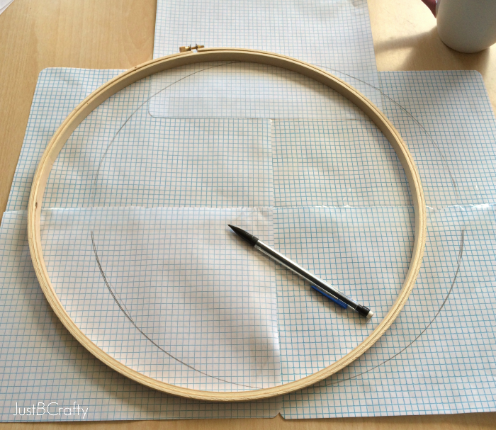 The embroidery hoop clock just be crafty