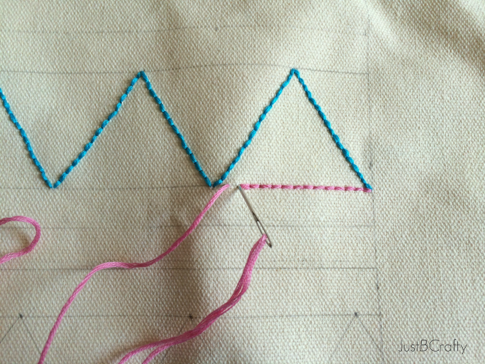 DIY: Embroidered Geometric Canvas Tote - Just Be Crafty