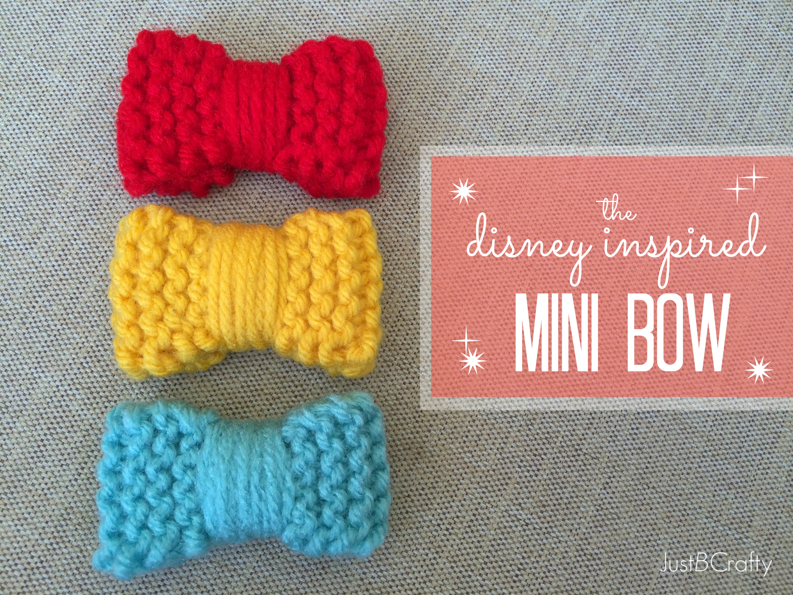 The Disney Inspired Knit Mini Bow
