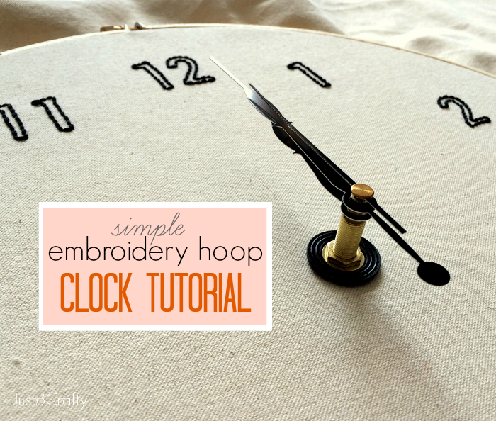 The Embroidery Hoop Clock