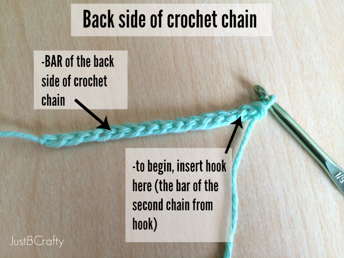 Crocheting Into Chain : ... crochet chain, this is what you will be crocheting into for the first