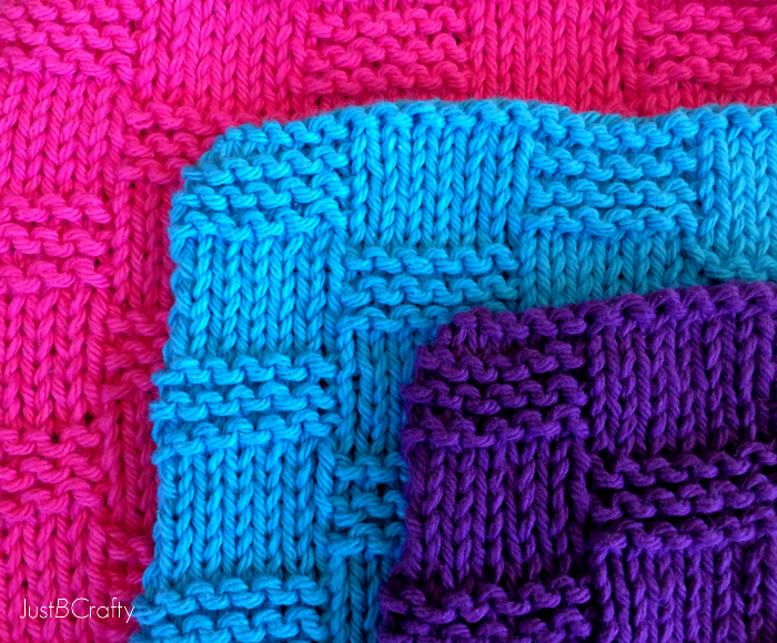 Crafty Knitting Patterns : Basket Weave Dishcloth Pattern - Just Be Crafty