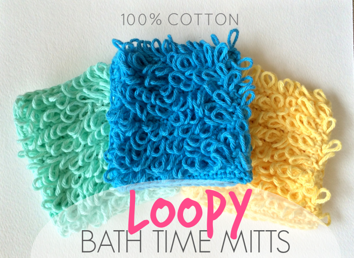 Loopy Bath Time Mitts + GIVEAWAY Winner!