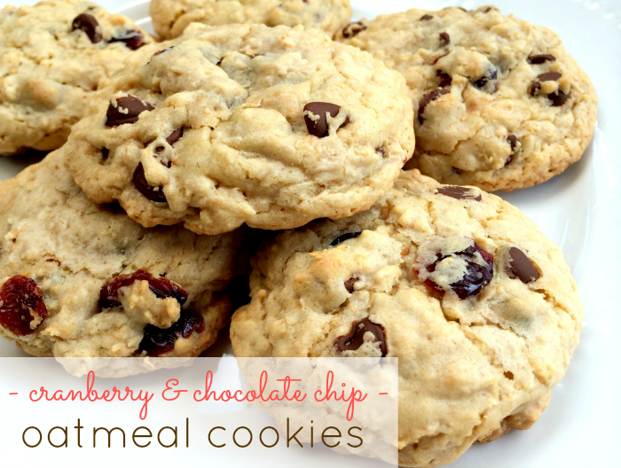 Cranberry & Chocolate Chip Oatmeal Cookies
