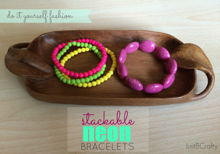 DIY Neon Stackable Bracelets