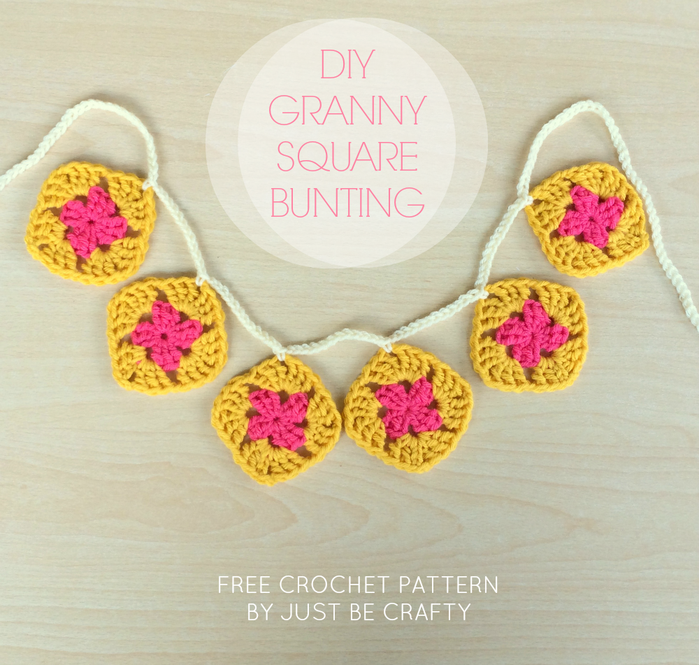 Crochet Granny Square Bunting Pattern