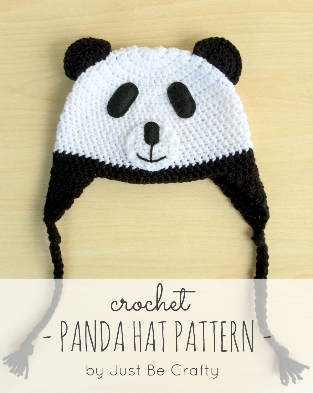 NEW PATTERN!! Crochet Panda Hat! - Just Be Crafty