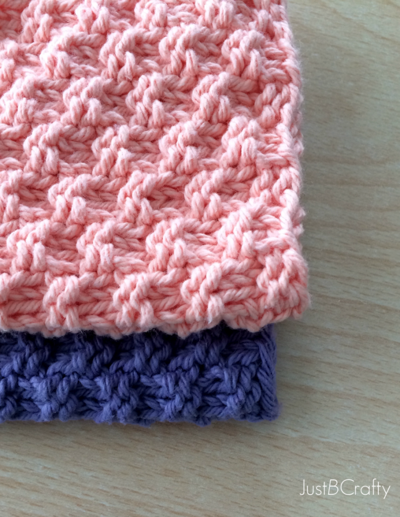 Knit Patterns For Dishcloths Free : NEW Free Pattern! Textured Knit Dishcloth