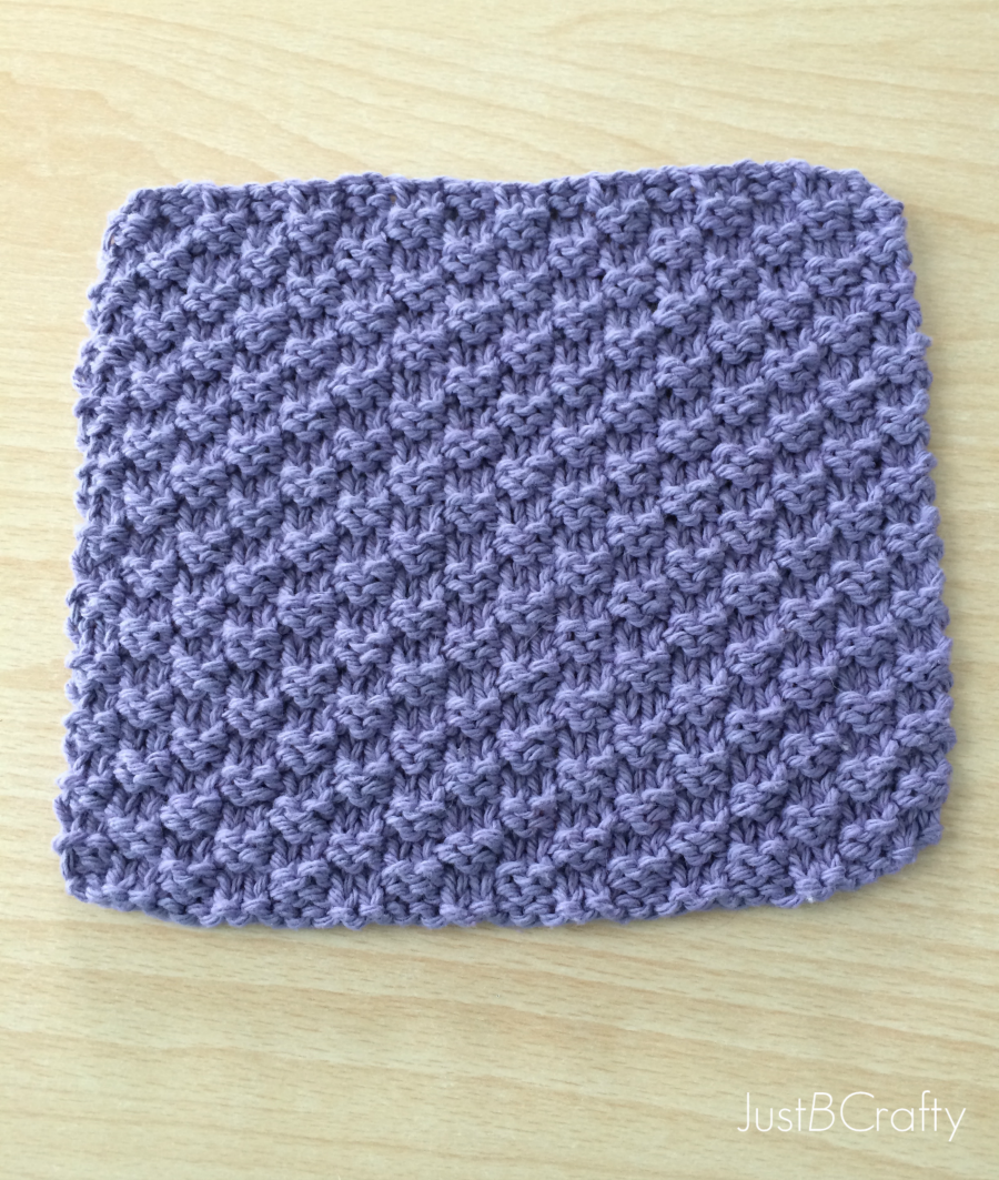 Textured Knit Dishcloth Pattern