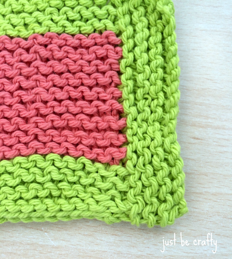 Garter Stitch Coaster zoom