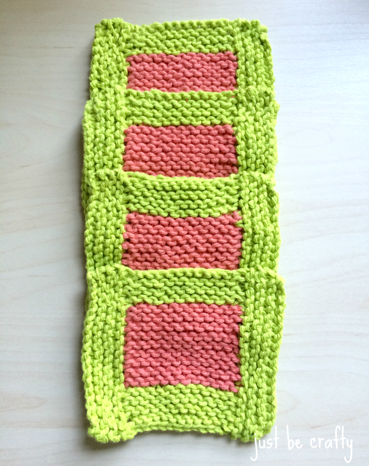 Garter stitch coaster set