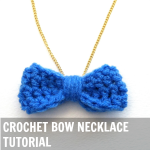 Crochet Bow Necklace