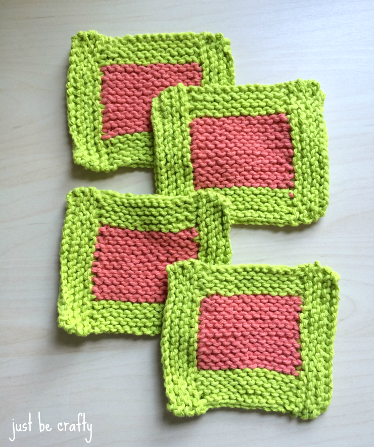 garter sitch coasters