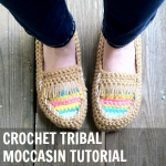 Crochet Tribal Moccasins