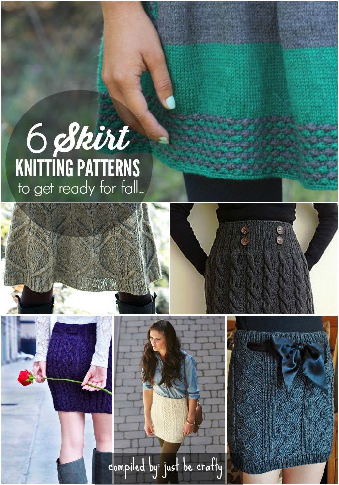6 Skirt Knitting Patterns To Get Ready For Fall Just Be Crafty