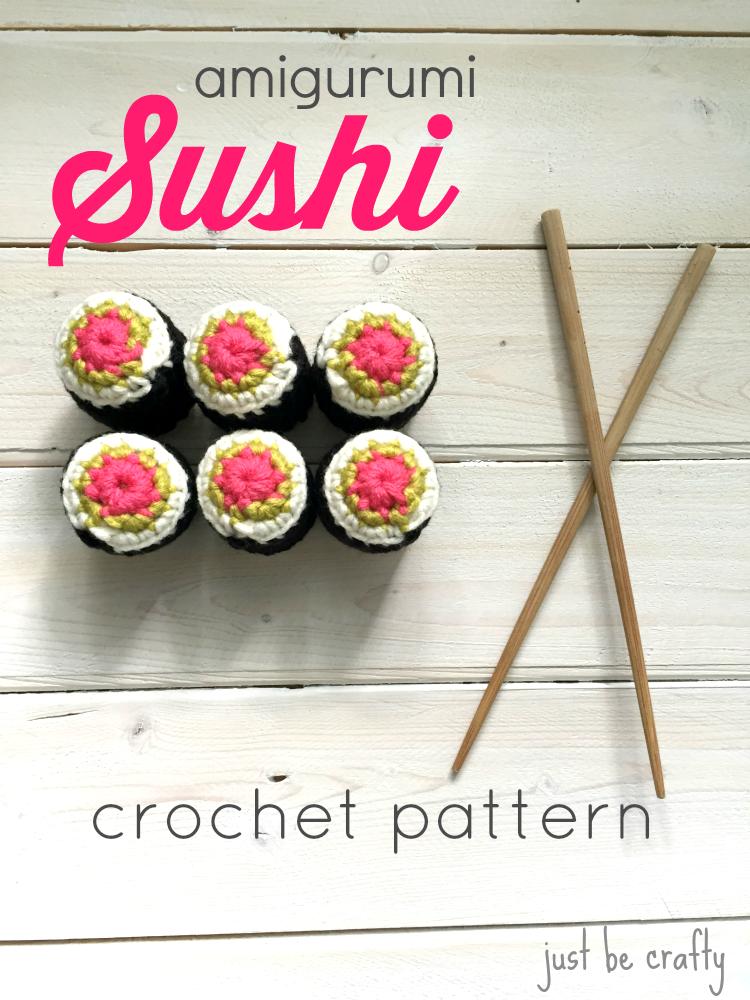 Amigurumi Sushi Pattern · How To Make A Sushi Plushie · Yarncraft ... | 1000x750