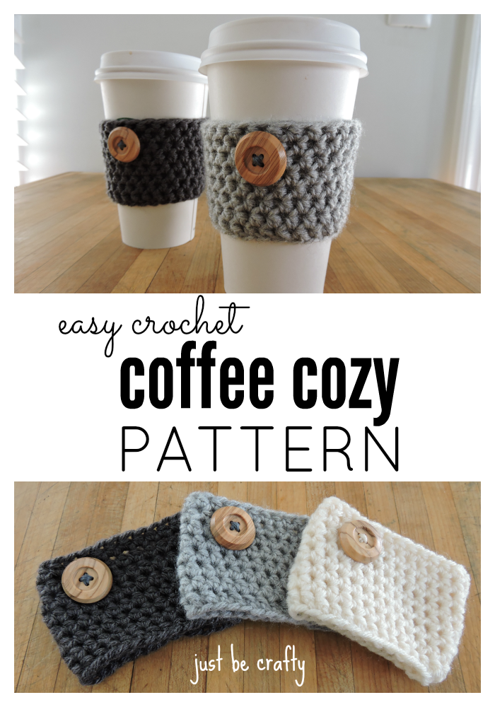 Crochet Coffee Cozy Pattern Just Be Crafty
