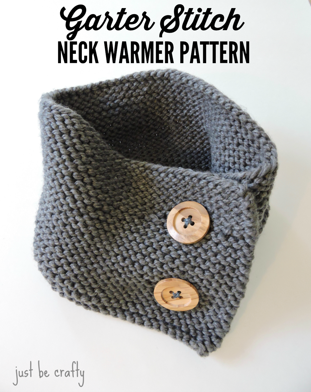 Garter Stitch Button-Up Neck warmer
