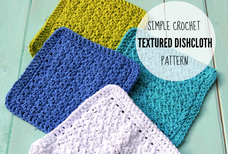 Crochet Textured Dishcloth Pattern Free Pattern By Just Be Crafty