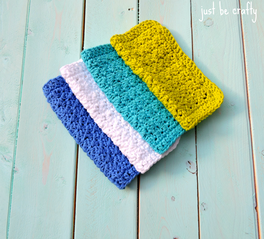 Textured washcloth pattern