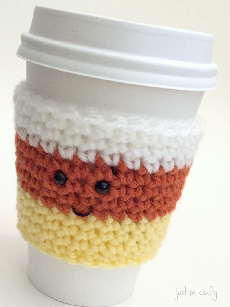 Candy Corn Coffee Cozy Pattern