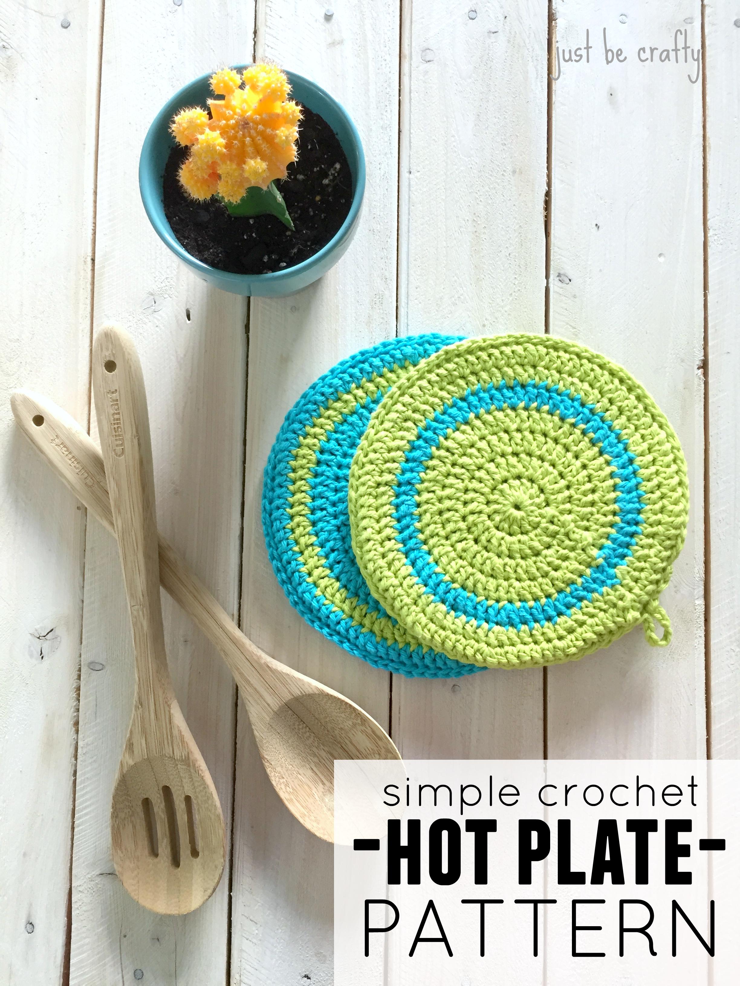 Simple Crochet Hot Plate Pattern