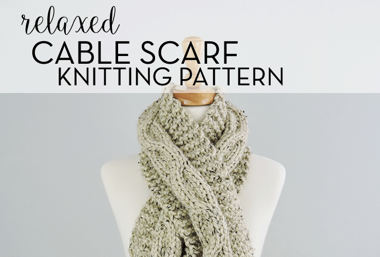 Chunky Relaxed Cable Scarf Pattern