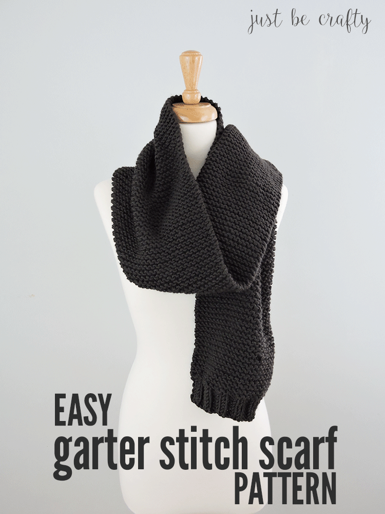 Easy Garter Stitch Scarf Pattern