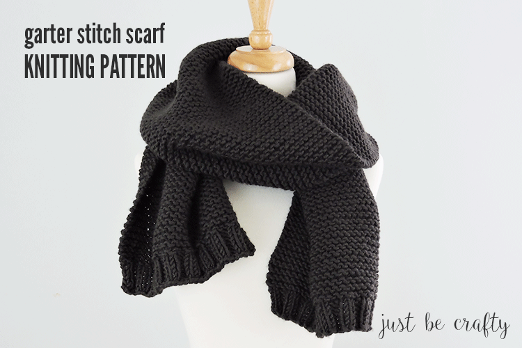 Easy Garter Stitch Scarf