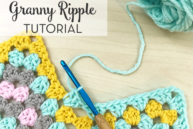 Crochet Granny Ripple Tutorial Free Crochet Pattern By Just Be Crafty