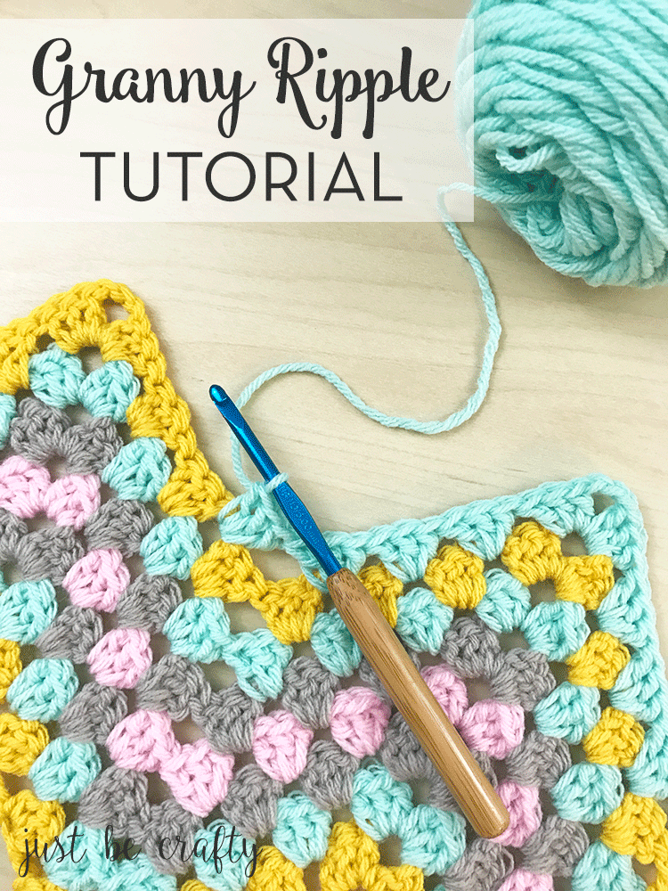 Crochet Granny Ripple Tutorial Free Crochet Pattern By Just Be Crafty