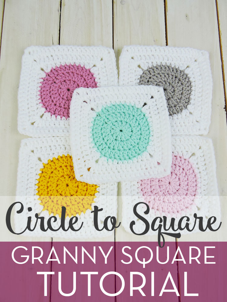 Circle to Square Granny Square Tutorial - Free Pattern by Just Be Crafty