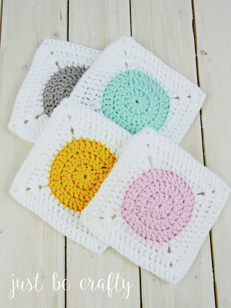Circle To Square Granny Square Tutorial Free Pattern By