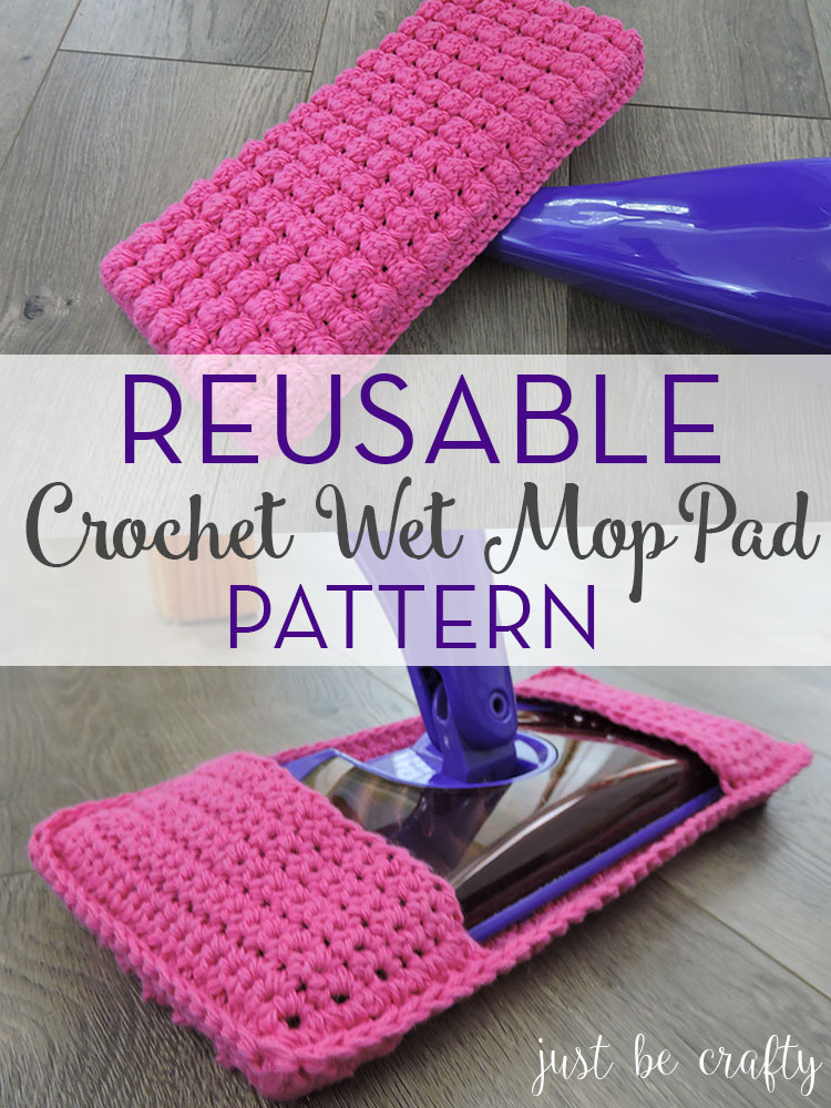 Reusable Crochet Wet Mop Pad Pattern