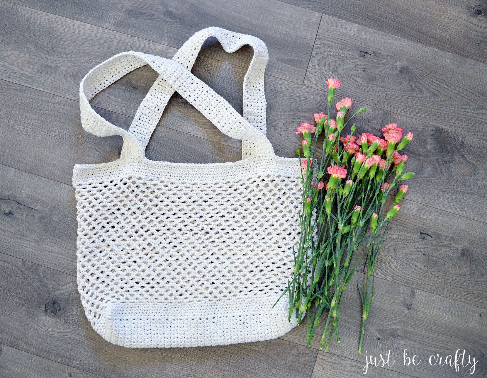 2017 05 fashion flowers to crochet - Will You Give This Crochet Farmer S Market Bag Pattern A Try Let Me Know In The Comments Below