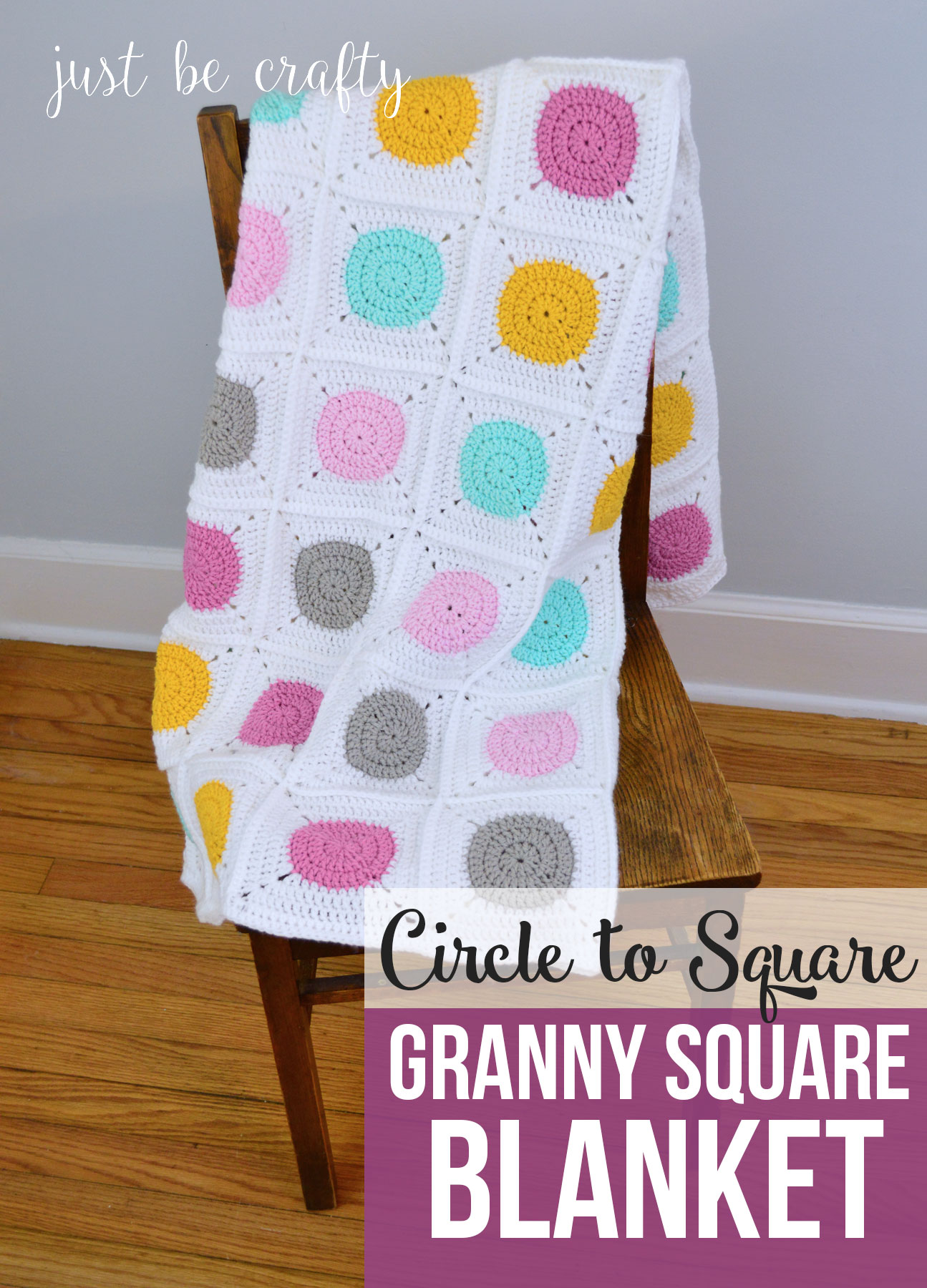 Circle To Square Granny Square Blanket Pattern