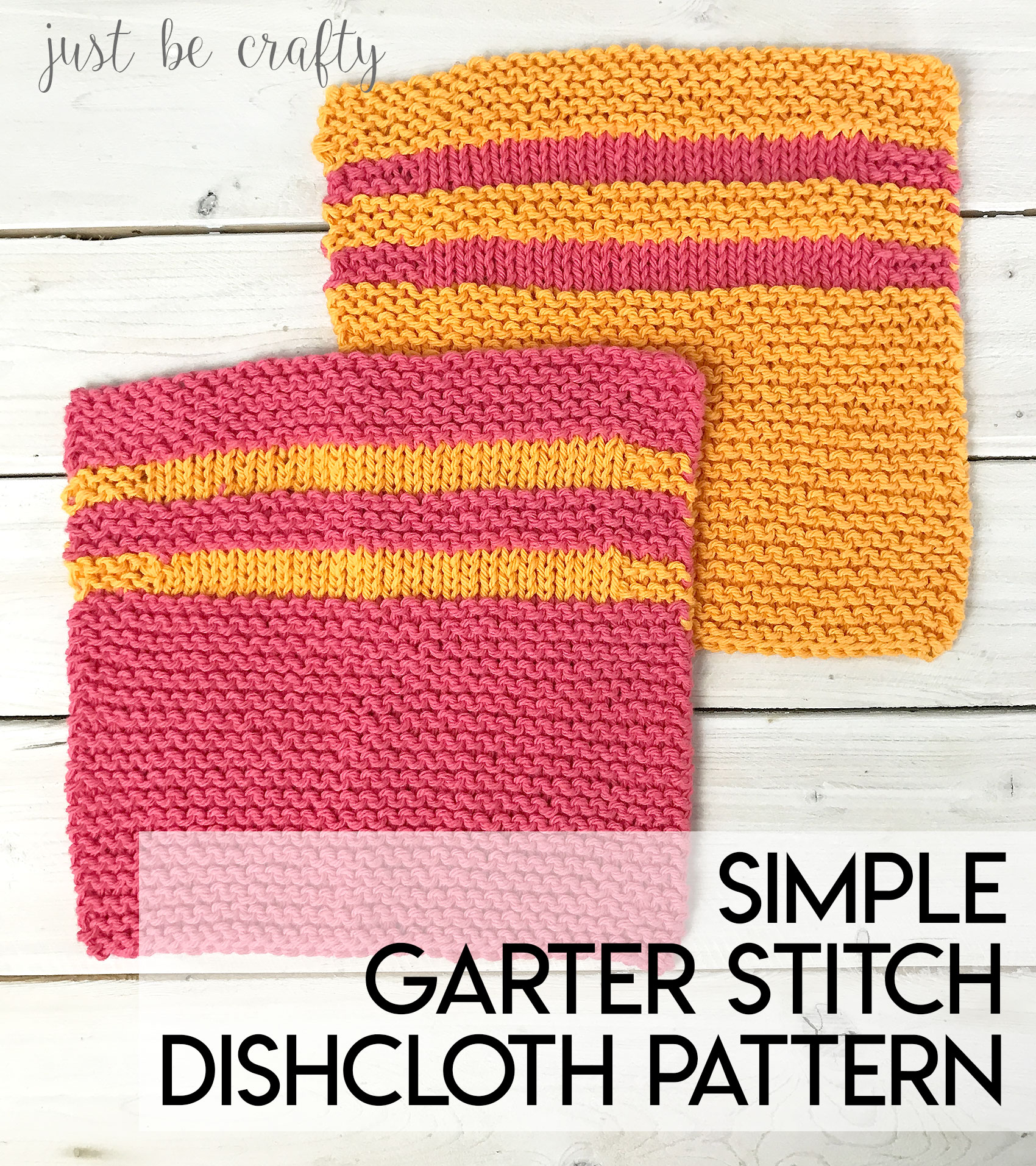 Simple Garter Stitch Dishcloth Pattern