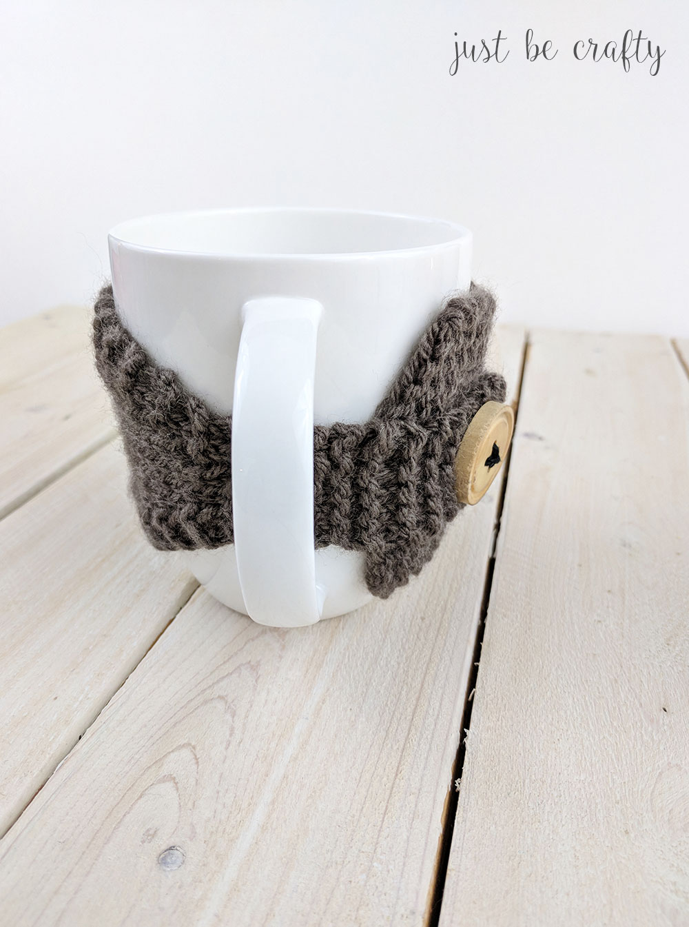 Knitted Coffee Mug Cozy Pattern - Free pattern by Just Be ...