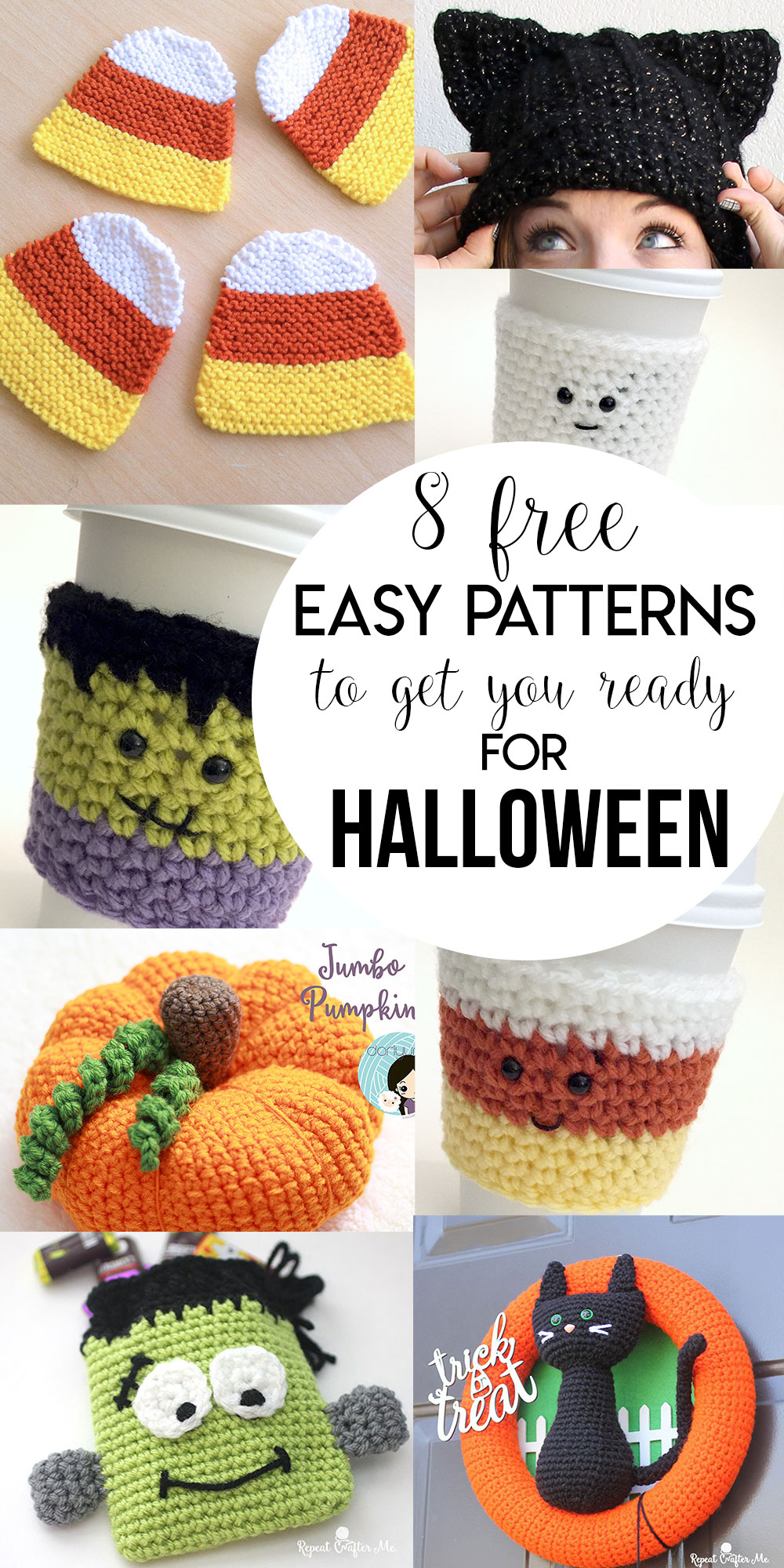8 Free Easy Patterns To Get You Ready For Halloween!