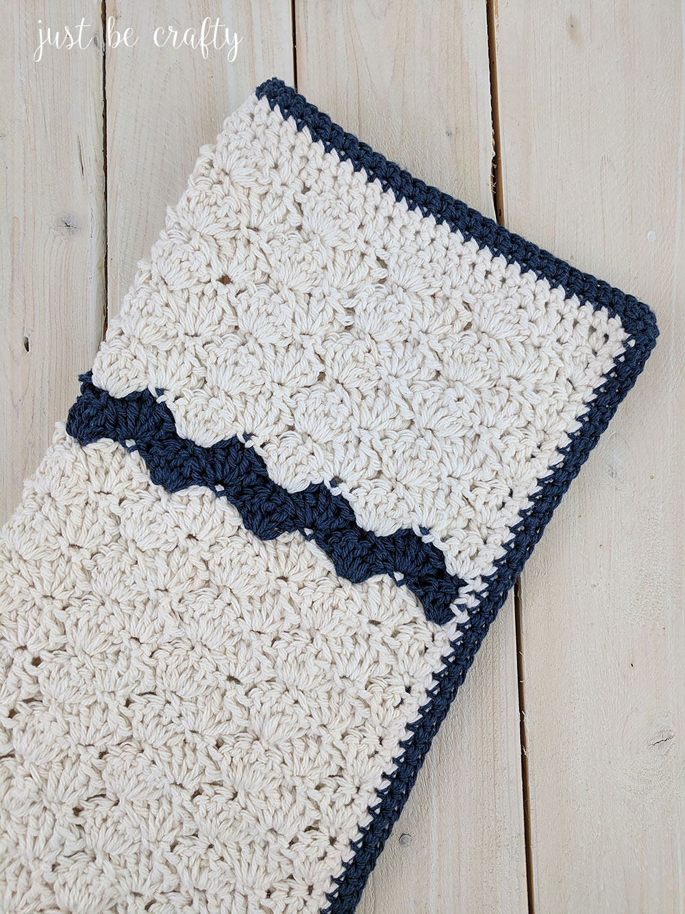 Crochet Farmhouse Table Dish Towel Pattern - Just Be Crafty