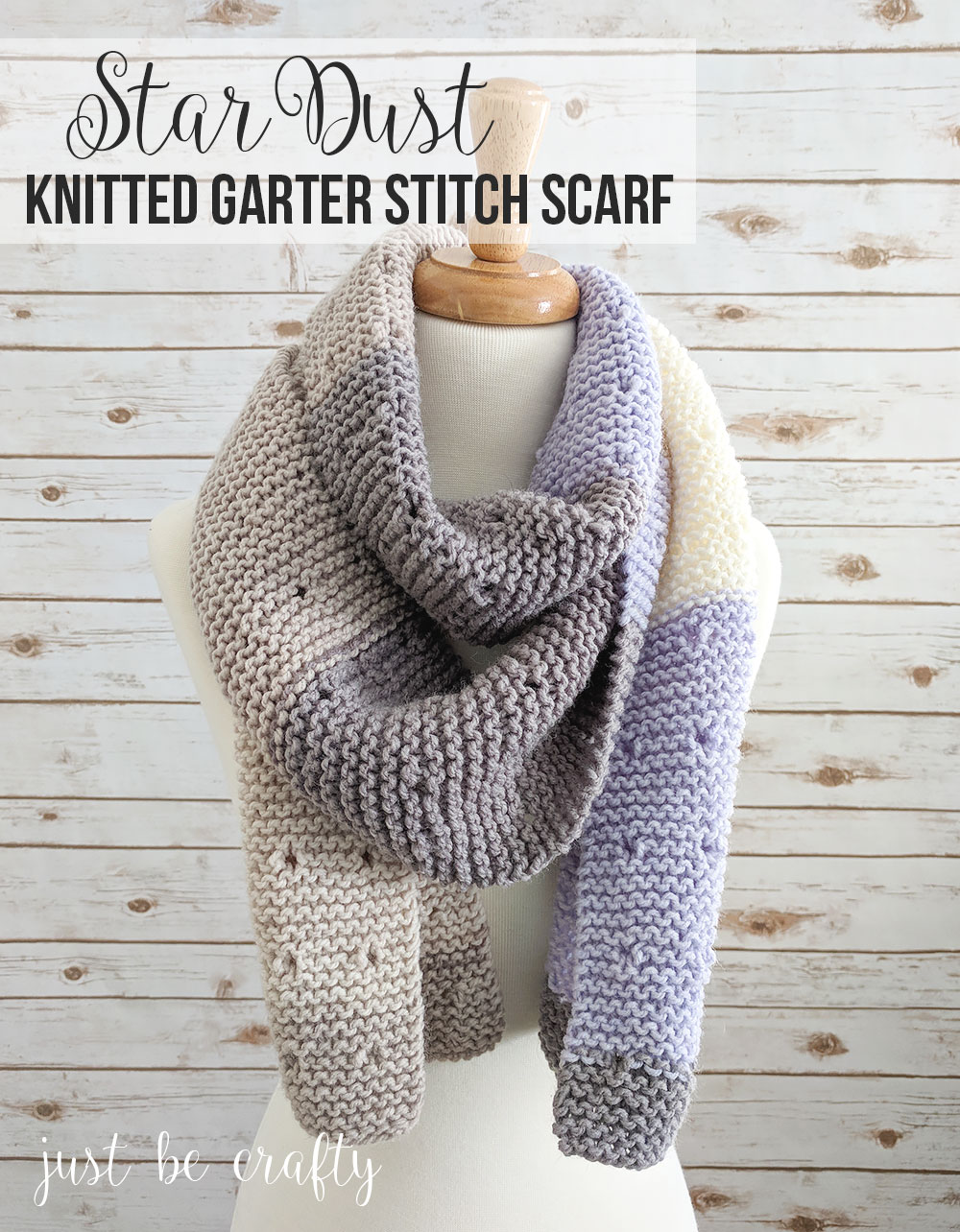 Star-Dust-Garter-Stitch-Scarf-Pattern